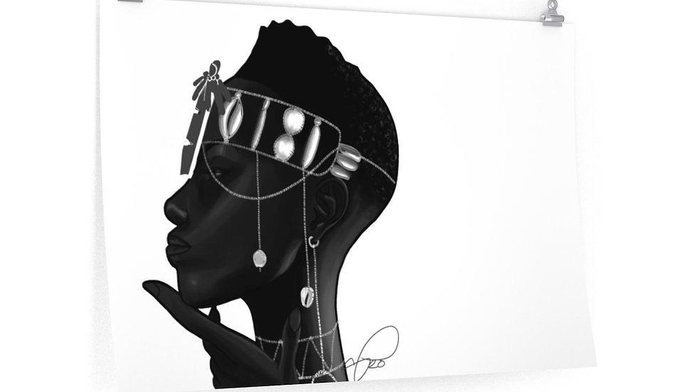 """black"" Premium Matte horizontal posters"