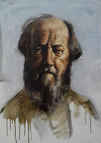Soljenitsyne ( Huile sur toile 70 x 50 )