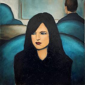 Femme de trois quart N°3 ( Huile sur Toi