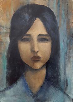 Femme de face N° 2 Huile sur toile 70x50