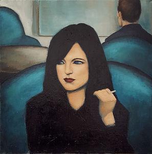 Femme à la cigarette Huile sur toile 60x