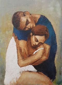 Couple enlacé huile sur toile 81x60.jpg