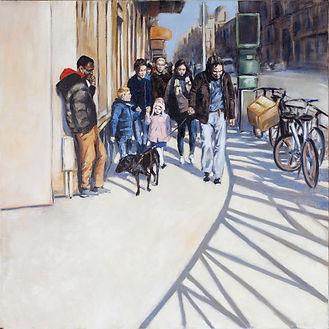Une rue 11 ( Huile sur toile 80x80).jpg