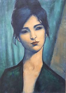 Femme de face N° 3 Huile sur toile 70x50