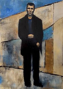 Homme seul  Huile sur toile 65x46.jpg