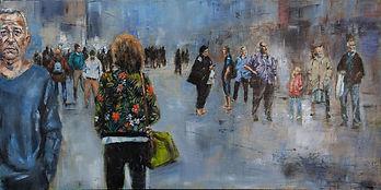 Dans une rue - 4 ( huile sur toile 100 x