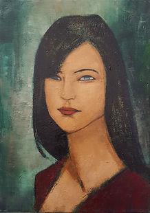 Femme de trois quart N°1 Huile sur toile