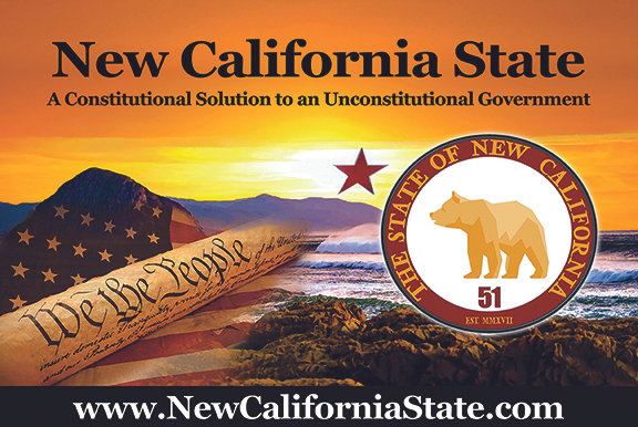New California State Car Magnet 8x12