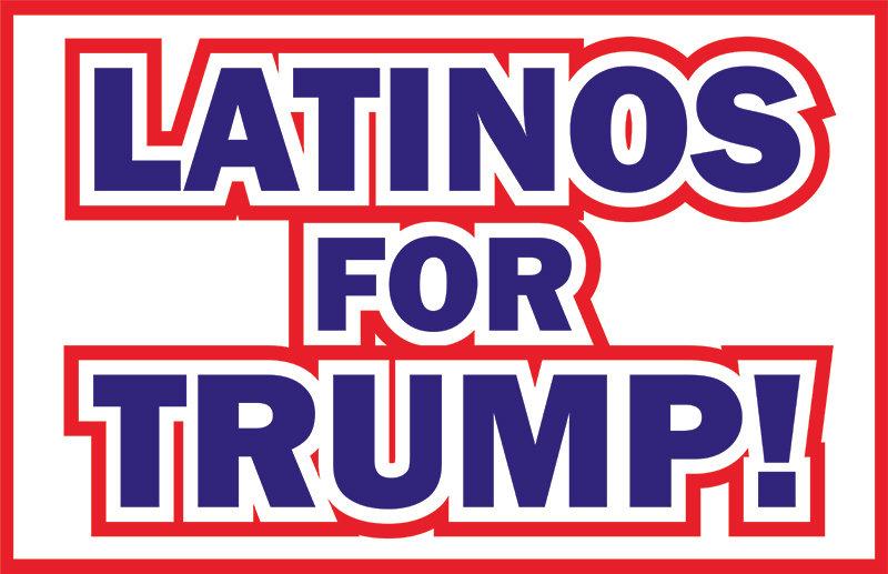 Latinos For Trump -  Car Magnet 11x17