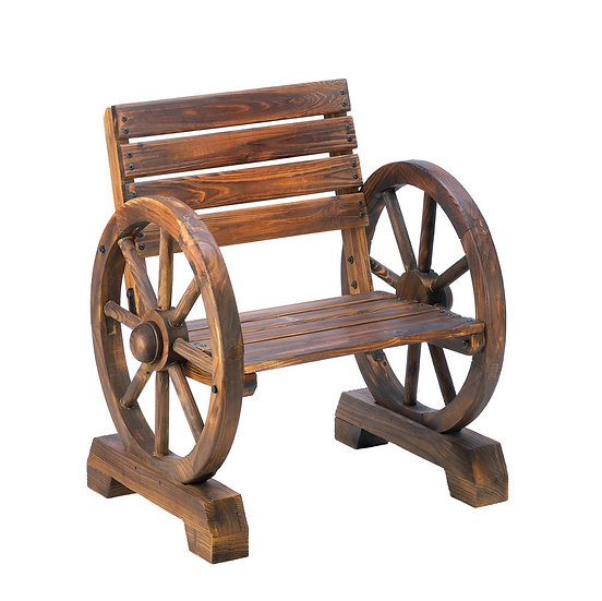 Wagon Wheel Wood Chair