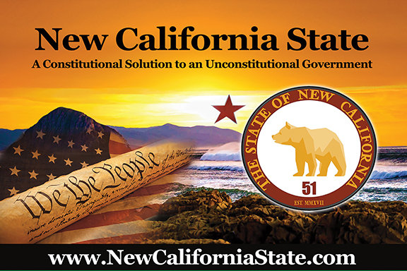 New California State Car Magnet 11x17
