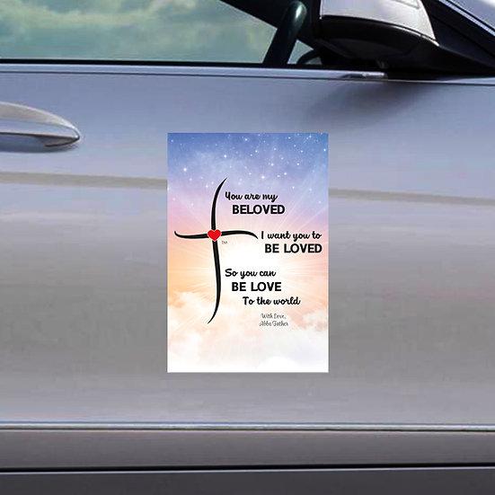 """Beloved Car Magnet 12"""" x 18"""""""