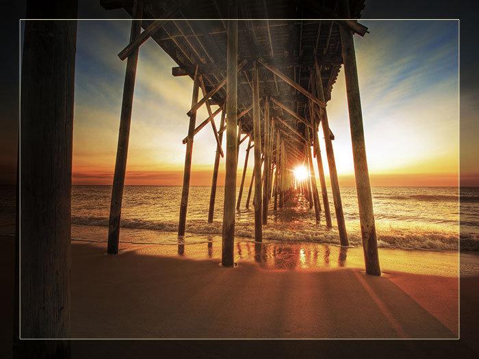 3'x4' Vinyl Banner - Ocean Pier