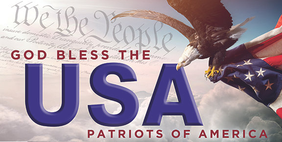 BLESS THE USA -  Car Magnet 12x24