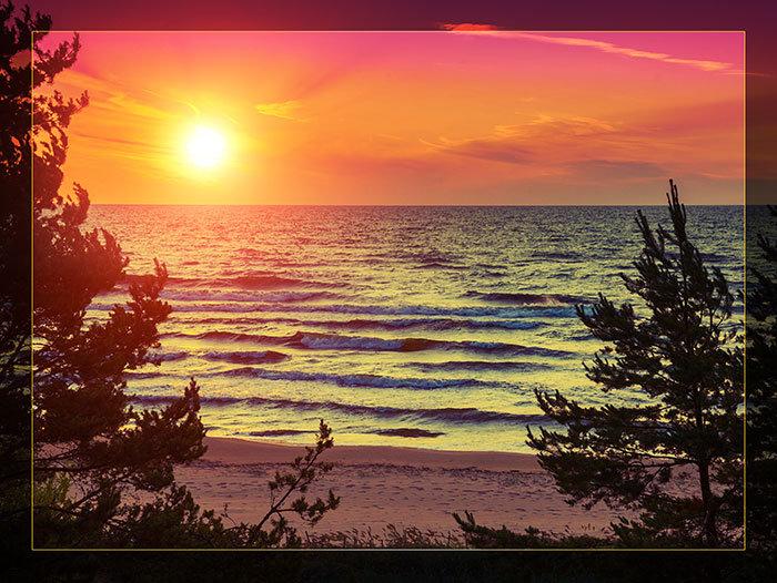 3'x4' Vinyl Banner - Ocean Sunset