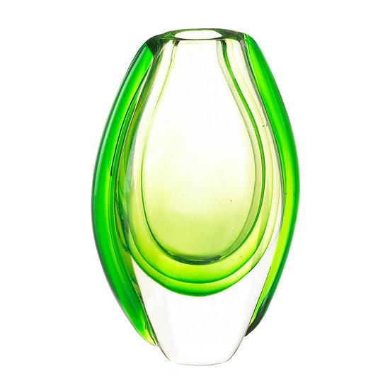 Emerald Art Glass Vase