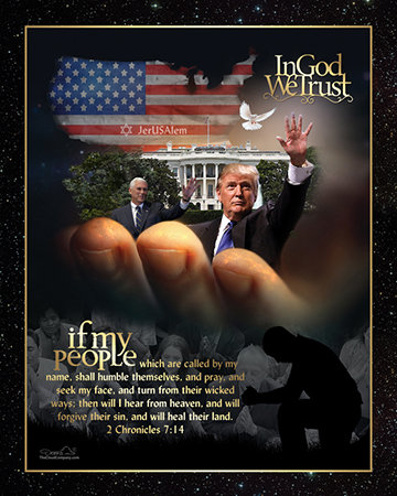 President Trump and VP Mike Pence in Gods Hands Plaque