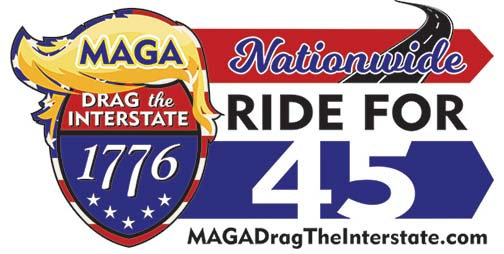 MAGA DRAG THE INTERSTATE - NATIONWIDE #1 Car Magnet 12x24