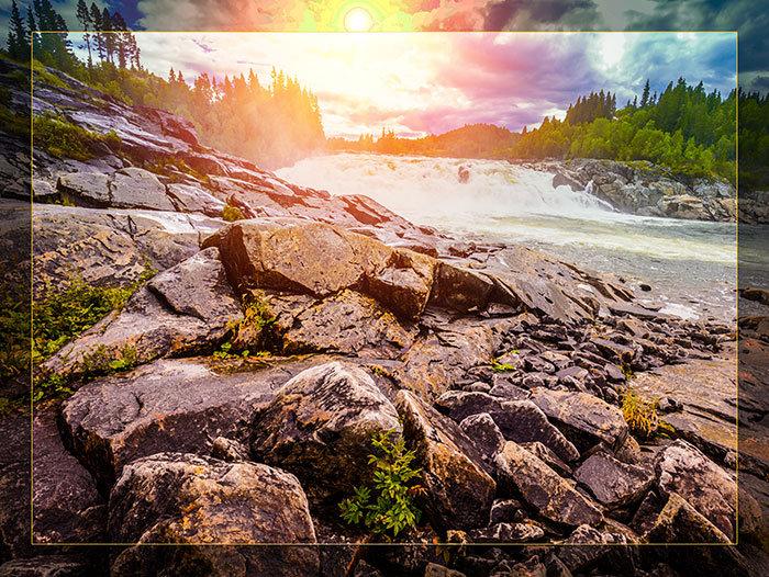 3'x4' Vinyl Banner - Stream Sunset