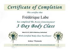 Certificat 3D BodyClass 15-17.03.2019