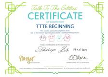 Certificat Parler aux Entités 19.05.19
