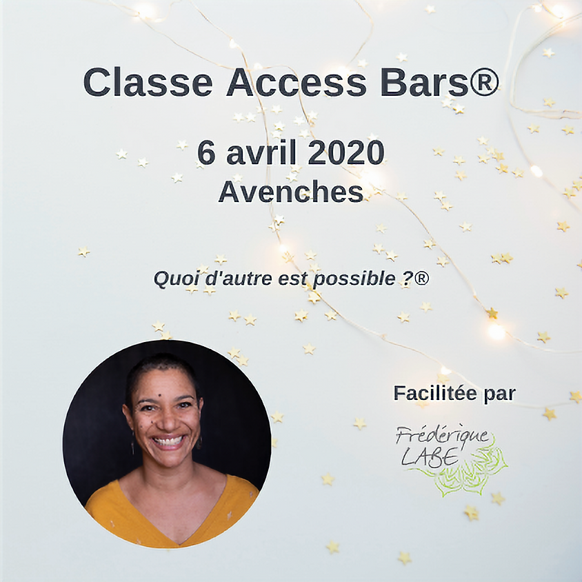 Formation Access BARS® 06 avril 2020