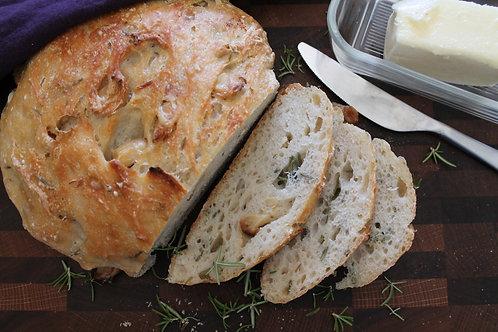 Garlic Rosemary Artisan Bread
