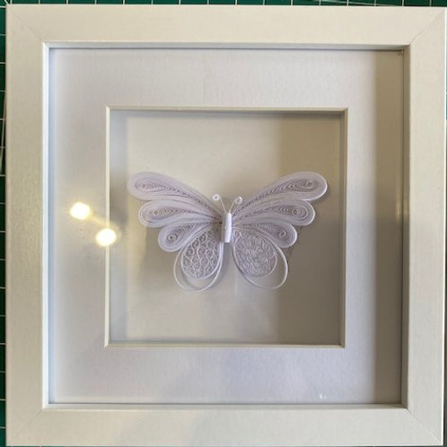 Quilled butterfly - white