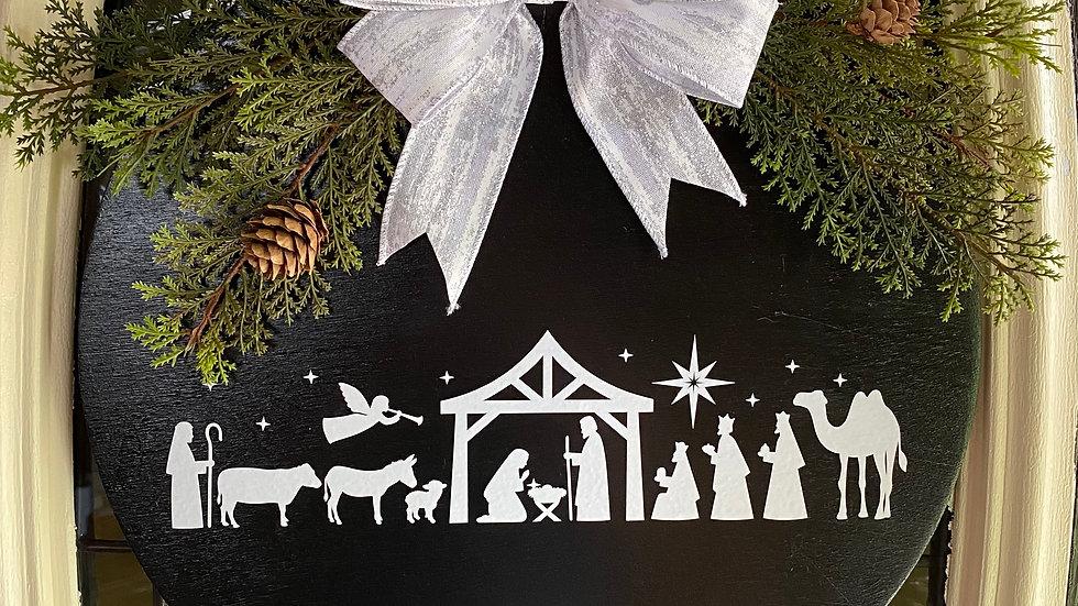 """14"""" Christmas Door Hanger"""