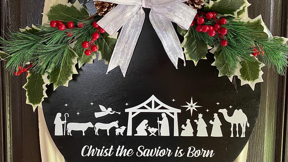 """18"""" Christmas Door Hanger"""
