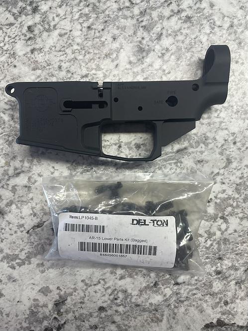 Alexandria Pro AR-15 stripped lower w/ parts kit.