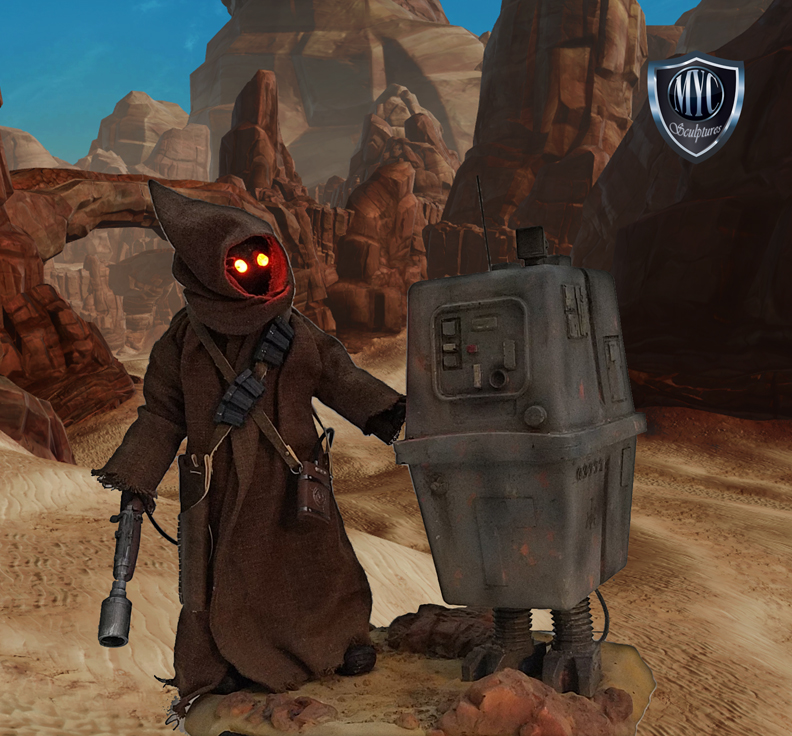 Jawa and Gonk Custom Statue MYC