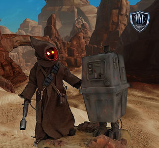 Jawa and Gonk Custom Statue