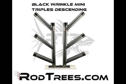 Black Wrinkle Mini Triple