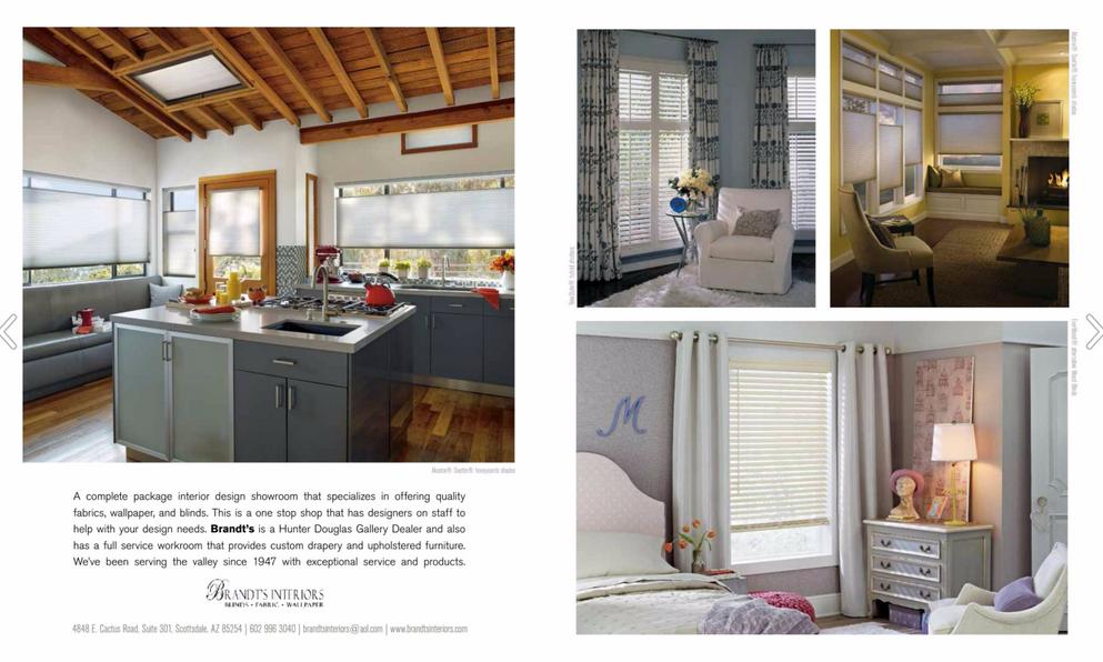 Brandi's Interiors Two-Page Ad