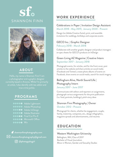 Shannon Resume Example