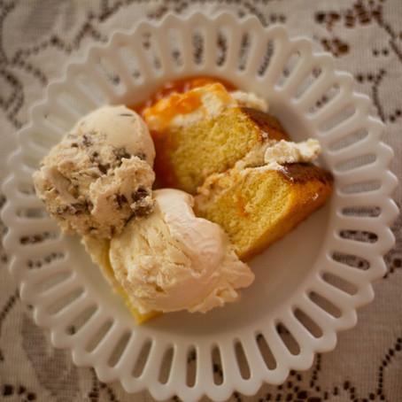 Food Journal, Peaches & Cream Cake
