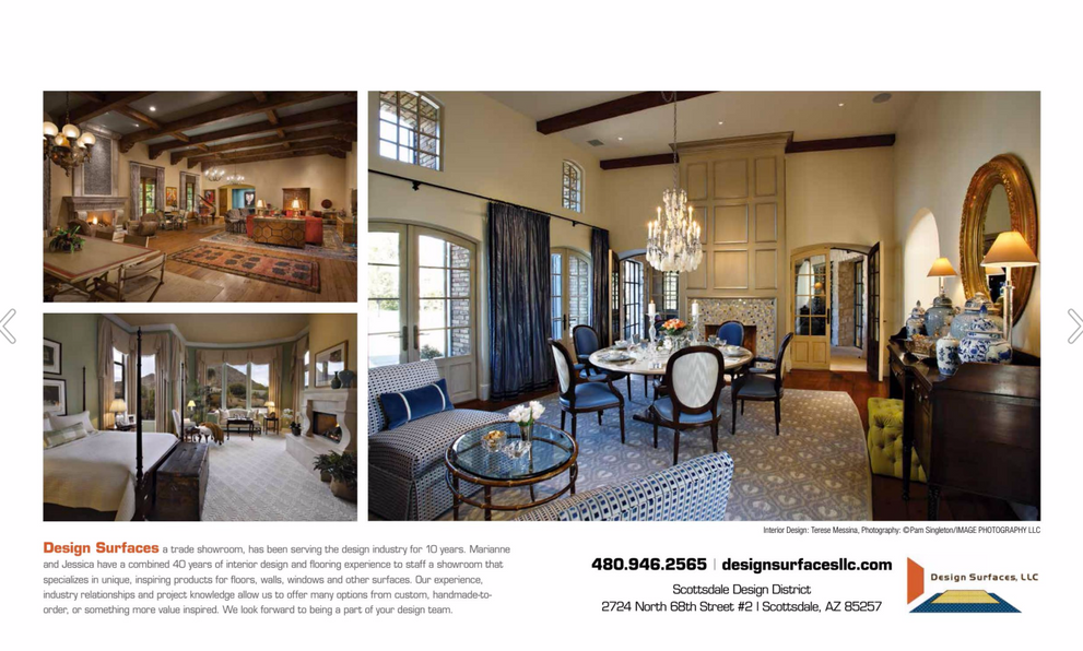 Design Surfaces LLC Two-Page Ad