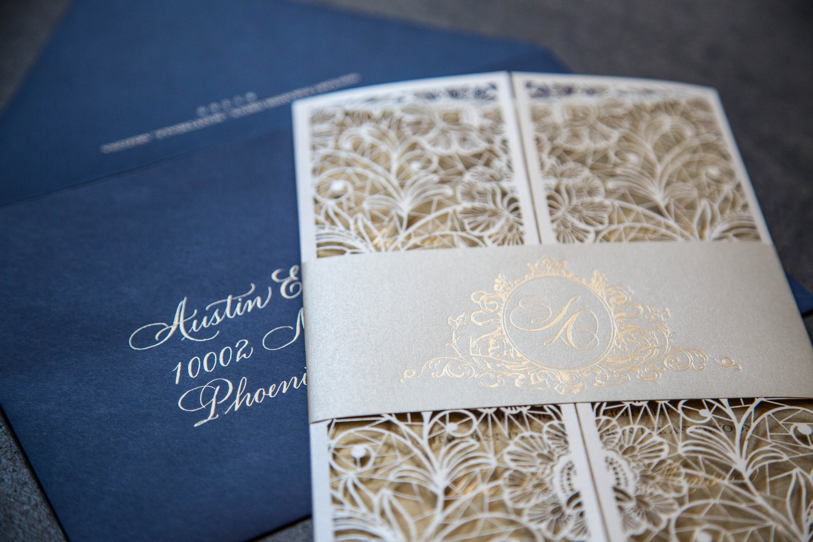Lasercut Design for Wedding Invite