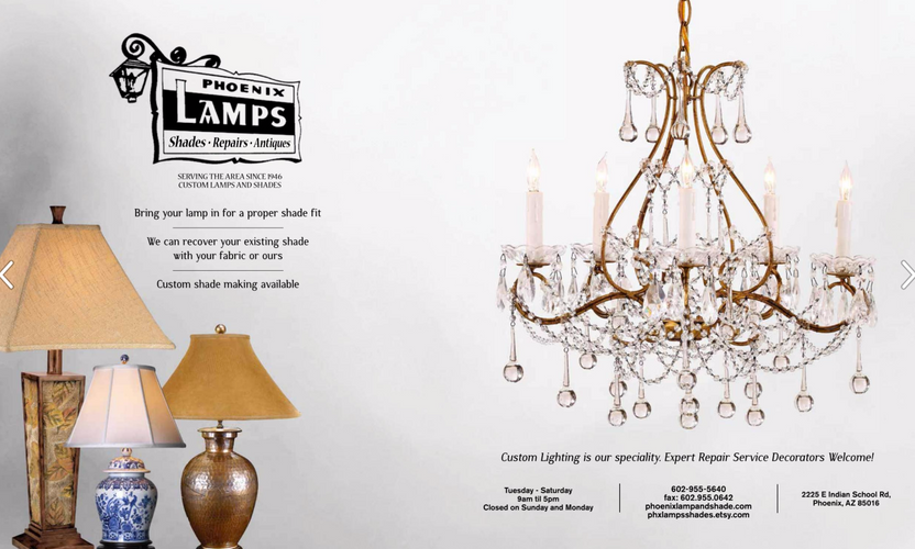 Phoenix Lamps Two-Page Ad