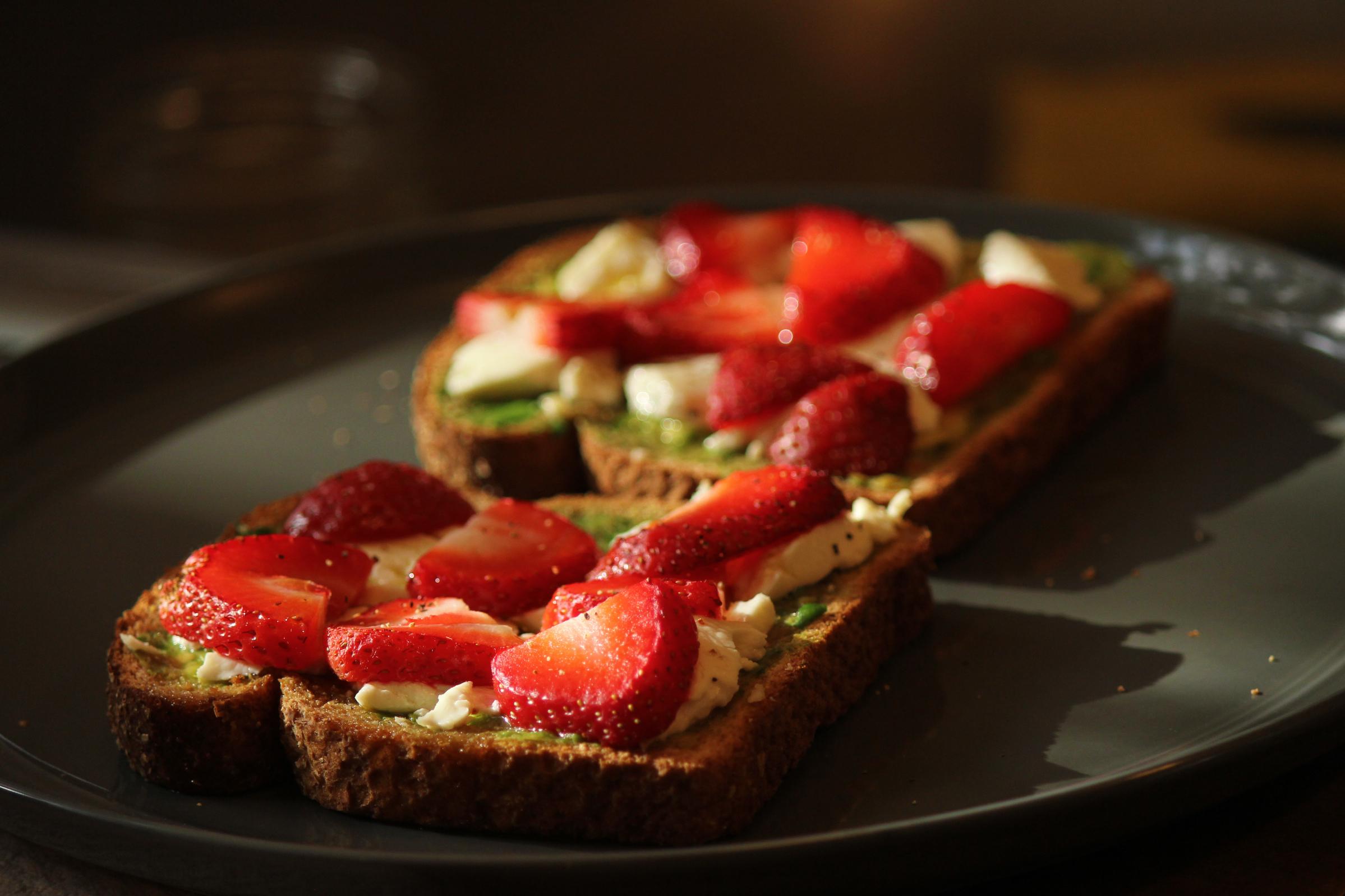 Strawberry & Avocado Toast
