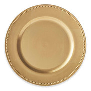 Beaded Charger Plates In Gold (Set Of 6)