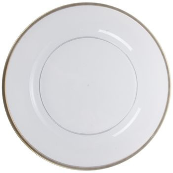 Transparent Plate Charger With Gold Trim