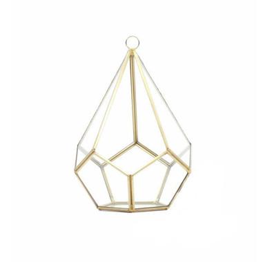 Undecahedron Geometric Tear Drop Glass a