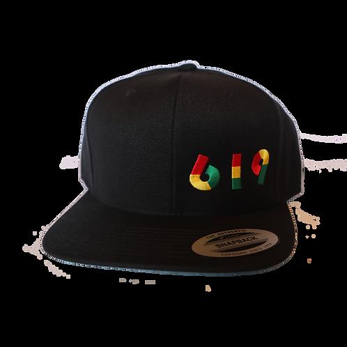 Black 619 Hat (Snapback)