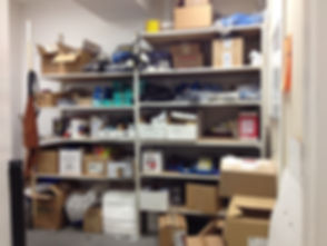 Voilà! Organizing Services Penticton - BEFORE PHOTO Safety/Tools Supplies Storage Area - Professional Organizer