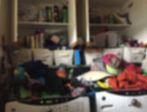 Voilà! Organizing Services Penticton - BEFORE PHOTO - A great Laudry Room & Coset Cleanup - Professional Organizer