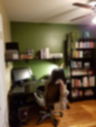 Voilà! Organizing Services Penticton - Projects - AFTER PHOTO - An Orderly Living Room / Home Office