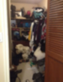 Voilà! Organizing Services Penticton - BEFORE PHOTO - A Great Coset Cleanup - Professional Organizer