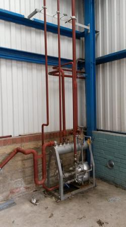 Effluent machine and pipework